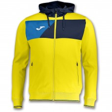 CREW II HOODED FZ POLY JACKET (YELLOW- NAVY-ROYAL)